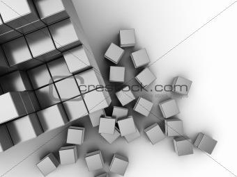 cubes building background