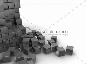 gray cubes background