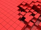 red cubes background
