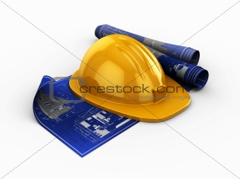 blueprints and hardhat