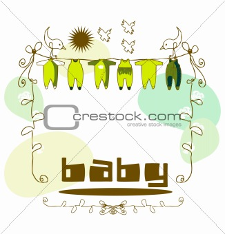 Baby arrival announcement frame