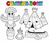 Coloring book with totem