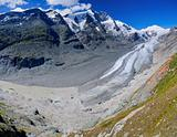 Glacier on Grossglockner. Austria. Panorama