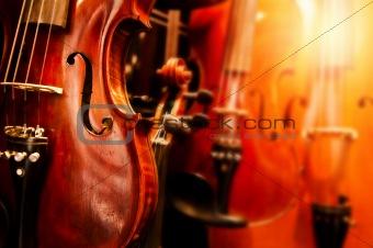 Close Up Violins