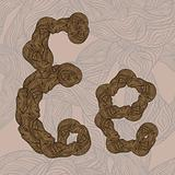 "vector ""E"" letter of oak  tree wooden texture on seamless wooden"