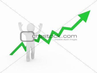 3d human man green graph