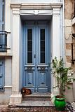 Door and dog, Greece