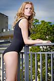 Beautiful slim sexy young woman