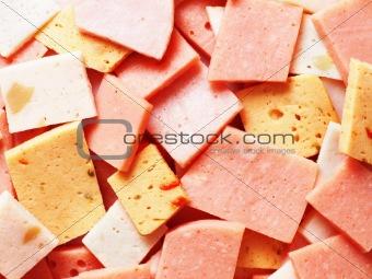 assorted ham bits
