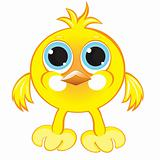 Cartoon gay yellow chicken