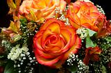 orange roses flower bouquet