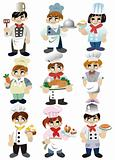 cartoon chef icon cartoon chef icon