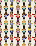 cartoon Toy soldier seamless pattern