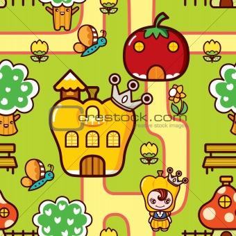 Cartoon Vegetable Dreamland