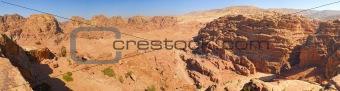 Caves in lost city of world wonder Petra, Jordan