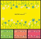 Abstract, modern background with flowers