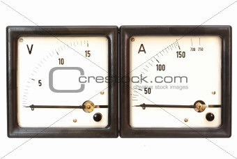 old ammeter and voltmeter