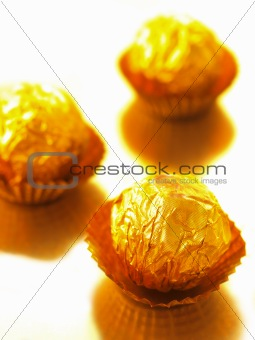 candy in gold wrappers