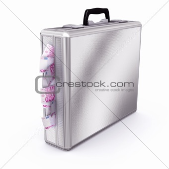 Briefcase full of 500 Euro Bills