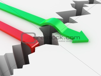 Failure and Success competition concept
