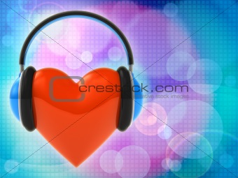 Love music. Abstract background
