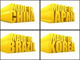 Made in Korea, China, Japan, Brazil set