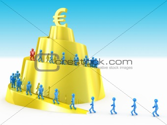 Business success concept isolated on white