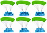 Types of insurance 3d concept illustration set isolated on white