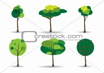 Green Trees Vector Illustration