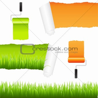 Grass And Paper Elements