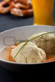 bavarian wheat dumpling soup