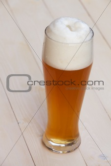 bavarian wheat beer in a glass