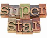superstar - in letterpress type