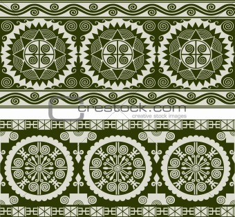 abstract scroll circular border banner
