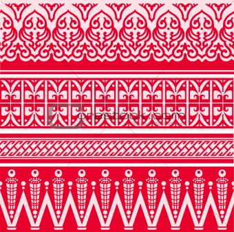 abstract border pattern design