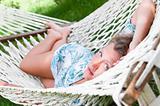 sexy woman in hammock