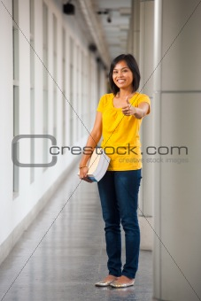 Asian Full Length Portrait Thumbs Up