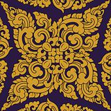 Seamless pattern baroque