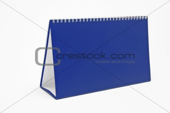 Blank desktop calendar in blue