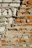 red and white bricks wall background