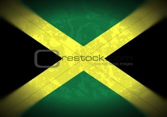 Grunge Jamaica Flag
