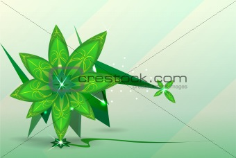 abstract background. green flower. Vector