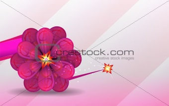 abstract background. lilac flower. Vector