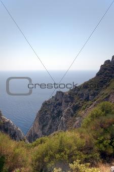 Cliffs around Corfu, Greece