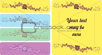 Abstract floral element
