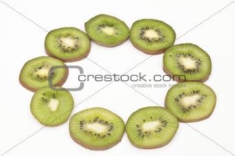 Sliced Kiwi fruit in a ring