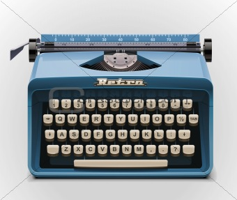 Vector typewriter XXL icon