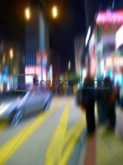 City Life - motion blurred illustration