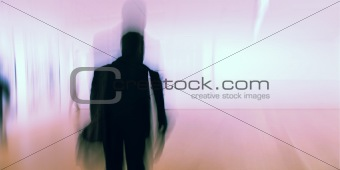 Man and background