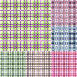 Plaid colorful seamless pattern set